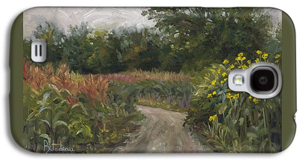 New England Galaxy S4 Cases - Plein Air - Corn Field Galaxy S4 Case by Lucie Bilodeau