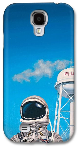 Space Paintings Galaxy S4 Cases - Pluto Galaxy S4 Case by Scott Listfield