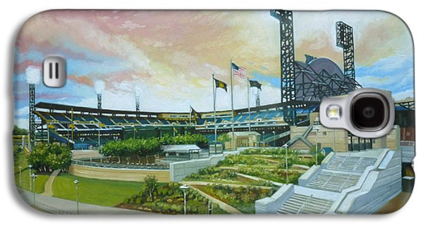 Gregg Hinlicky Galaxy S4 Cases - PNC Park Pittsburgh Pirates Galaxy S4 Case by Gregg Hinlicky