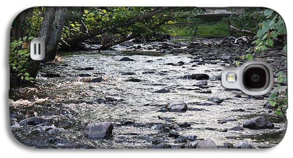 Trees Reflecting In Water Galaxy S4 Cases - Poconos Gentle Stream Galaxy S4 Case by John Telfer