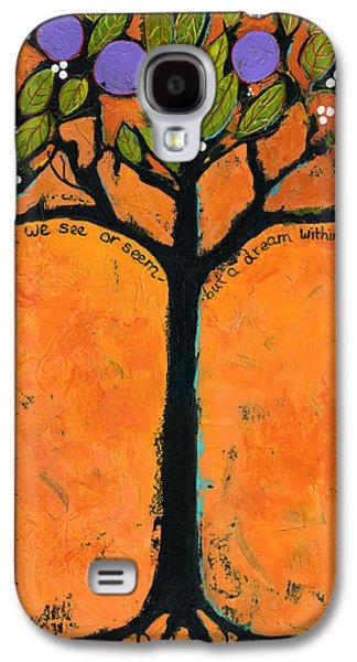 Tangerines Galaxy S4 Cases - Poe Tree Art Galaxy S4 Case by Blenda Studio