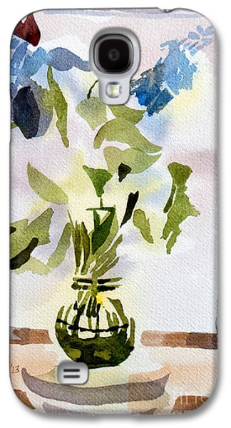 """""""indoor"""" Still Life Paintings Galaxy S4 Cases - Poetry in the Window Galaxy S4 Case by Kip DeVore"""
