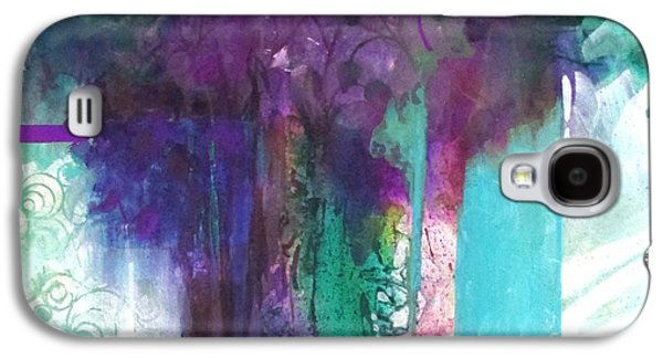 Curvilinear Paintings Galaxy S4 Cases - Poetry is painting Galaxy S4 Case by Patricia Mayhew Hamm