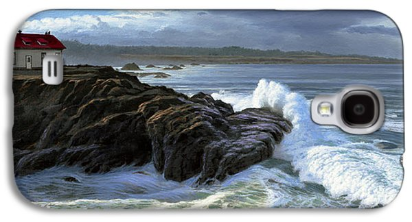 Lighthouse Galaxy S4 Cases - Point Cabrillo Lighthouse with Surf Galaxy S4 Case by Paul Krapf