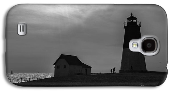 New England Ocean Galaxy S4 Cases - Point Judith Lighthouse Silhouette Galaxy S4 Case by Diane Diederich