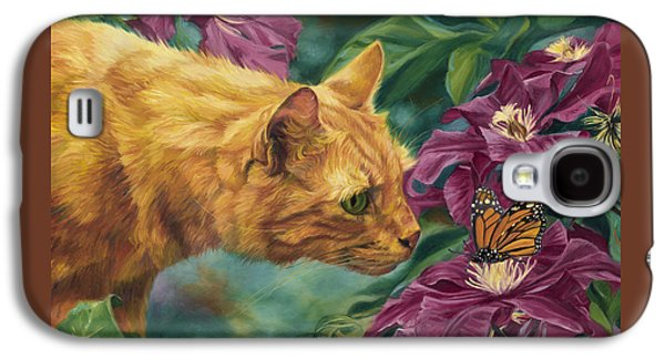 Orange Tabby Paintings Galaxy S4 Cases - Point Of Interest Galaxy S4 Case by Lucie Bilodeau
