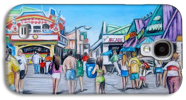 Window Pastels Galaxy S4 Cases - Point Pleasant Beach Boardwalk Galaxy S4 Case by Melinda Saminski