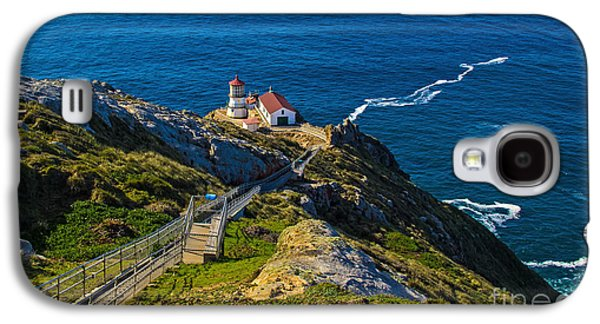 Waterscape Pyrography Galaxy S4 Cases - Point Reyes Lighthouse Galaxy S4 Case by Paul Gillham