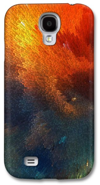 Earth Tones Galaxy S4 Cases - Points Of Light Abstract Art By Sharon Cummings Galaxy S4 Case by Sharon Cummings