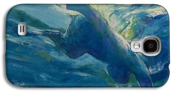 Recently Sold -  - Light Galaxy S4 Cases - Polar Bear Swim Galaxy S4 Case by Michael Creese