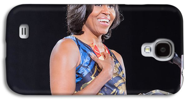 Michelle Obama Galaxy S4 Cases - Political Ralley Galaxy S4 Case by Ava Reaves