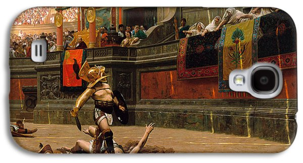 Pollice Verso. With A Turned Thumb Galaxy S4 Case by Jean-Leon Gerome