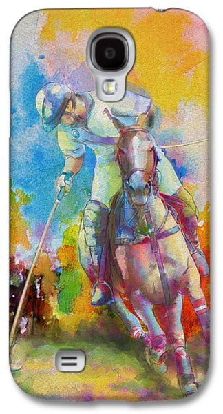 Vancouver Canucks Paintings Galaxy S4 Cases - Polo Art Galaxy S4 Case by Catf