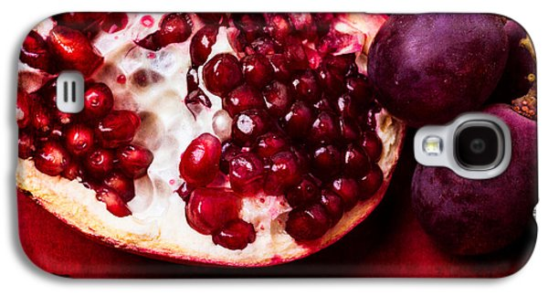 Grapes Art Deco Galaxy S4 Cases - Pomegranate And Red Grapes Galaxy S4 Case by Alexander Senin