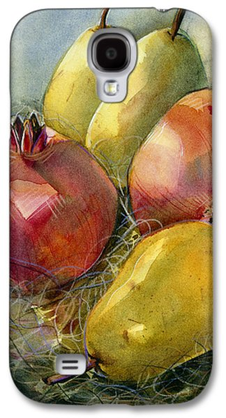 Design Paintings Galaxy S4 Cases - Pomegranates and Pears Galaxy S4 Case by Jen Norton