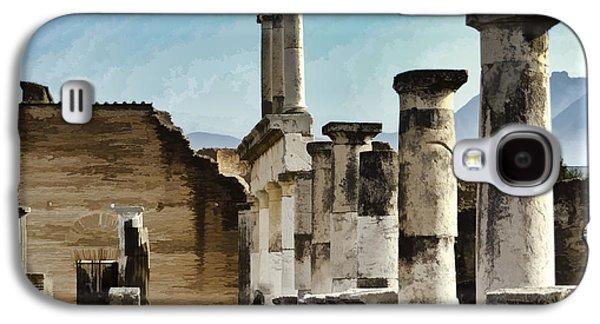 Colum Galaxy S4 Cases - Pompei Ruins Galaxy S4 Case by Jon Berghoff