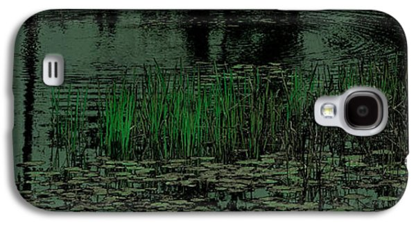 Nature Abstract Galaxy S4 Cases - Pond Grasses Panorama Galaxy S4 Case by David Patterson
