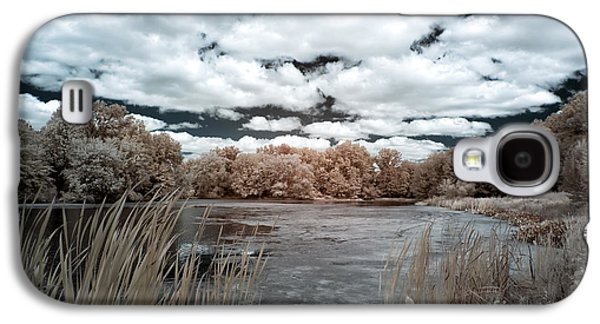 Pond In Park Galaxy S4 Cases - Pond in Autumn Galaxy S4 Case by John Rizzuto