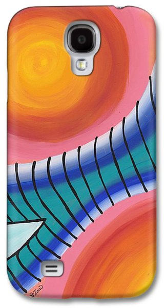 Constellations Paintings Galaxy S4 Cases - Pondering Creation - Orion Belt Galaxy S4 Case by Barbara St Jean