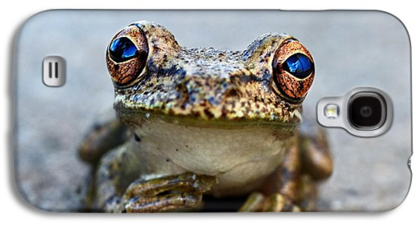 Character Portraits Photographs Galaxy S4 Cases - Pondering Frog Galaxy S4 Case by Laura  Fasulo