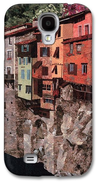 Architecture Tapestries - Textiles Galaxy S4 Cases - Pont en Royans Galaxy S4 Case by Lenore Crawford