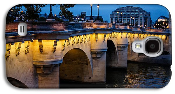 Landmarks Photographs Galaxy S4 Cases - Pont Neuf Bridge - Paris France II Galaxy S4 Case by Georgia Mizuleva