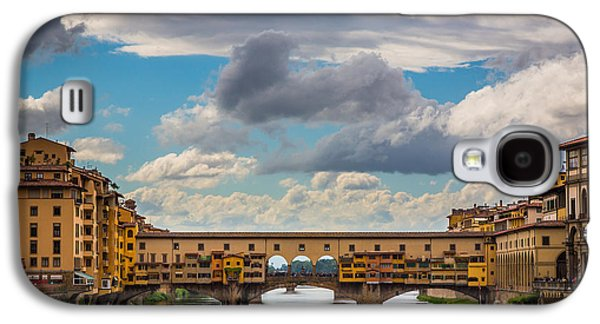 Tuscan Sunset Galaxy S4 Cases - Ponte Vecchio Clouds Galaxy S4 Case by Inge Johnsson