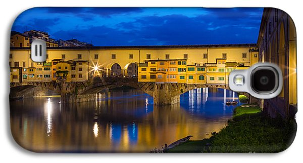 Tuscan Sunset Galaxy S4 Cases - Ponte Vecchio Reflection Galaxy S4 Case by Inge Johnsson