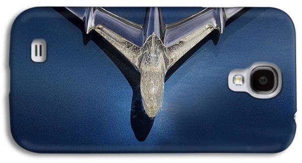 Hood Ornament Photographs Galaxy S4 Cases - Pontiac Plane Galaxy S4 Case by Rebecca Cozart
