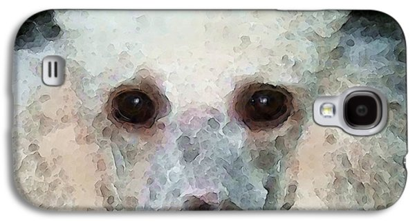 Animal Lover Digital Art Galaxy S4 Cases - Poodle Art - Noodles Galaxy S4 Case by Sharon Cummings