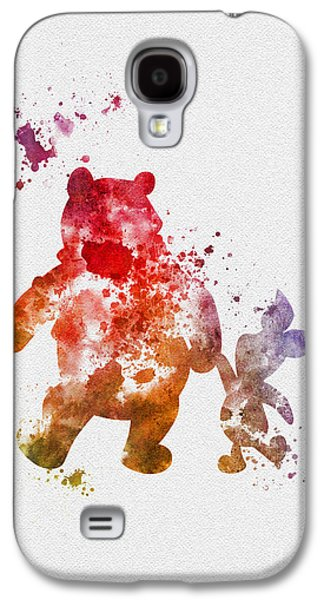 Animation Galaxy S4 Cases - Pooh Bear Galaxy S4 Case by Rebecca Jenkins