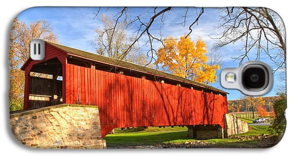 Conestoga Galaxy S4 Cases - Poole Forge Covered Bridge - Lancaster County Galaxy S4 Case by Adam Jewell