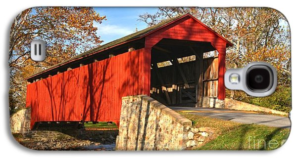 Conestoga Galaxy S4 Cases - Poole Forge Covered Bridge Crop Galaxy S4 Case by Adam Jewell