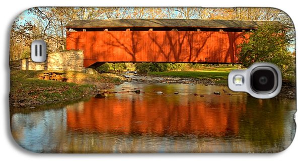 Conestoga Galaxy S4 Cases - Poole Forge Covered Bridge Mirror Galaxy S4 Case by Adam Jewell