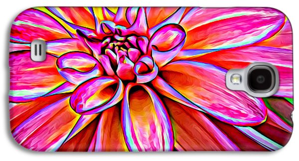 Recently Sold -  - Abstract Digital Photographs Galaxy S4 Cases - Pop Art Dahlia Galaxy S4 Case by Mary Jo Allen