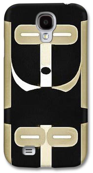 Digital Galaxy S4 Cases - Pop Art People Totem 5 Galaxy S4 Case by Edward Fielding