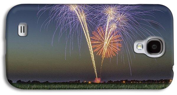 4th July Galaxy S4 Cases - Pop Corn Galaxy S4 Case by Christian Skilbeck