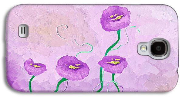 Pop Of Purple Galaxy S4 Case by Brenda Bryant