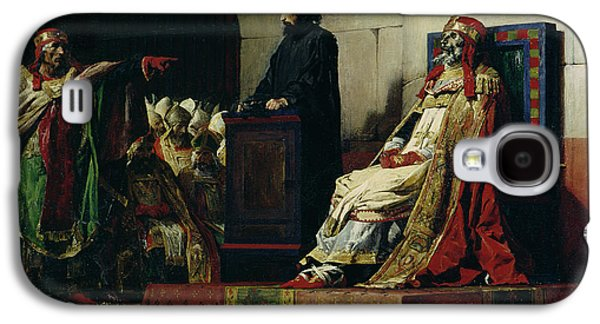 Pope Galaxy S4 Cases - Pope Formosus and Pope Stephen VI Galaxy S4 Case by Jean Paul Laurens