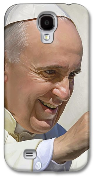 Pope Galaxy S4 Cases - Pope Francis Artwork Galaxy S4 Case by Sheraz A