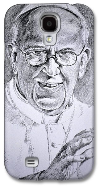 Religious Drawings Galaxy S4 Cases - Pope Franciscus Galaxy S4 Case by Henryk Gorecki