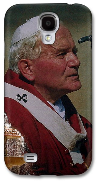 Recently Sold -  - Statue Portrait Galaxy S4 Cases - Pope John Paul I I Galaxy S4 Case by Ramona Johnston