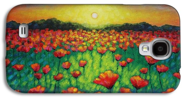 Edition Galaxy S4 Cases - Poppies At Twilight Galaxy S4 Case by John  Nolan
