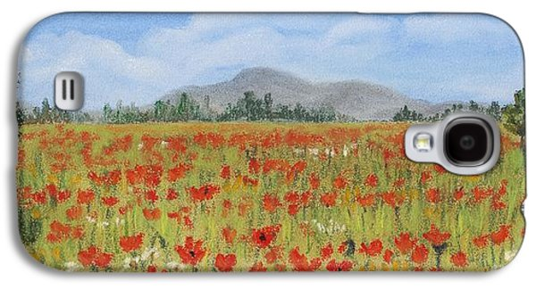 Floral Pastels Galaxy S4 Cases - Poppies in Provence  Galaxy S4 Case by Anastasiya Malakhova