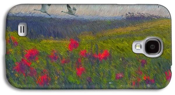 Tuscan Hills Galaxy S4 Cases - Poppies of Tuscany Galaxy S4 Case by Lianne Schneider