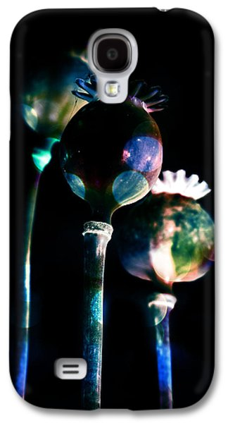 Garden Scene Mixed Media Galaxy S4 Cases - Poppy buds Galaxy S4 Case by Toppart Sweden
