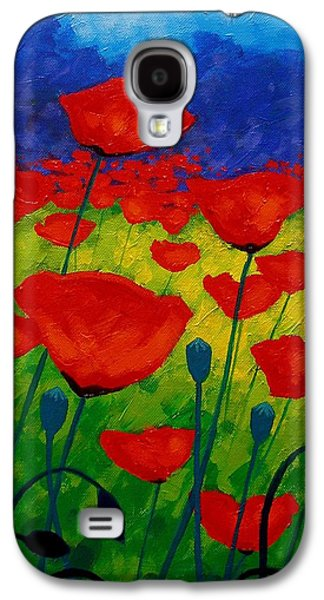 Poppy Corner II Galaxy S4 Case by John  Nolan