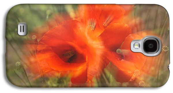 A Sunny Morning Galaxy S4 Cases - Poppy Craze Galaxy S4 Case by Nomad Art And  Design