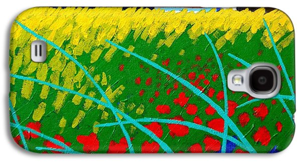 Landscape Acrylic Prints Galaxy S4 Cases - Poppy Field France Galaxy S4 Case by John  Nolan