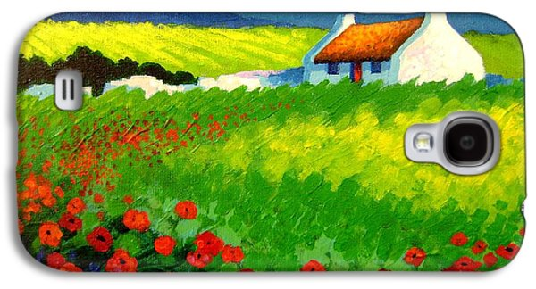 Gallery Paintings Galaxy S4 Cases - Poppy Field - Ireland Galaxy S4 Case by John  Nolan